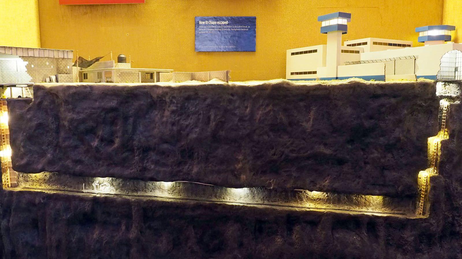 ماکت فرار ال چاپو در موزهی مافیا در لاس وگاسزمان تقریبی مطالعه: ۱ دقیقه