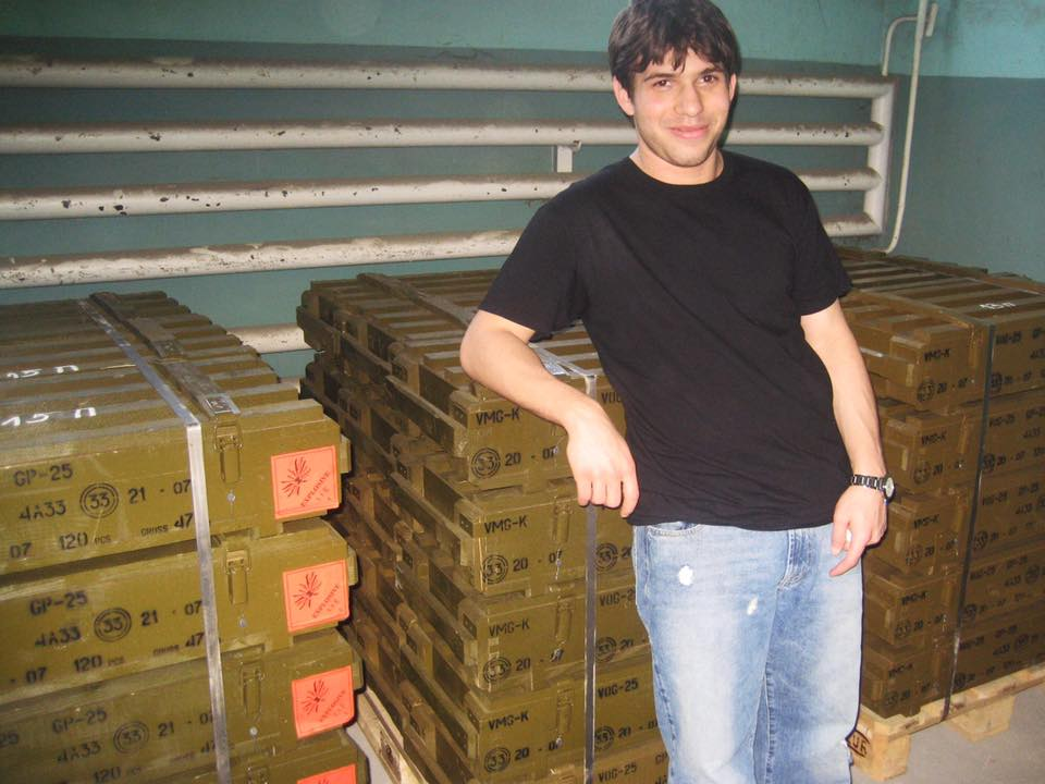 In Bulgaria in 2007 with a shipment of my newly manufactured grenades bound for Afghanistan