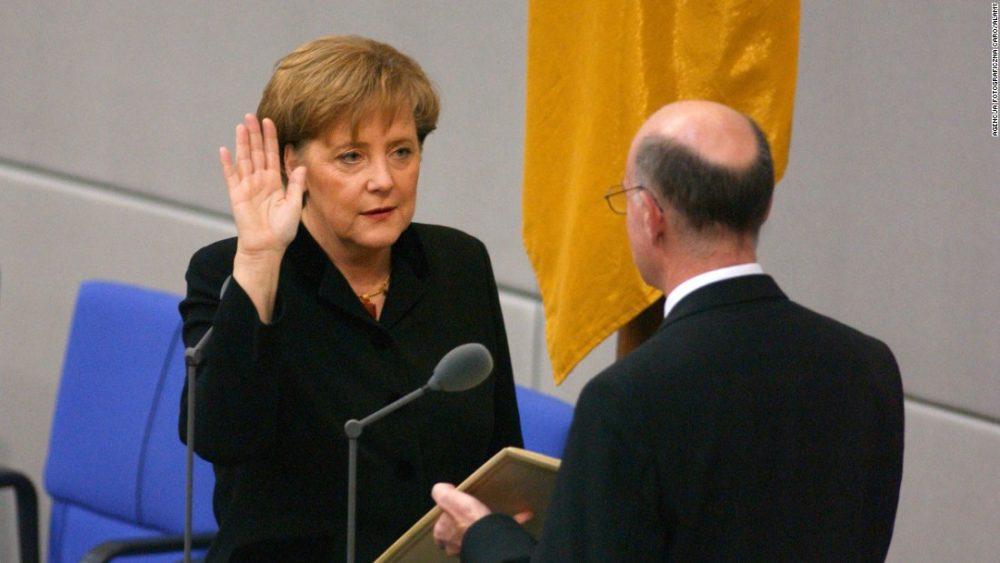 Angela Merkel Sworn 2005