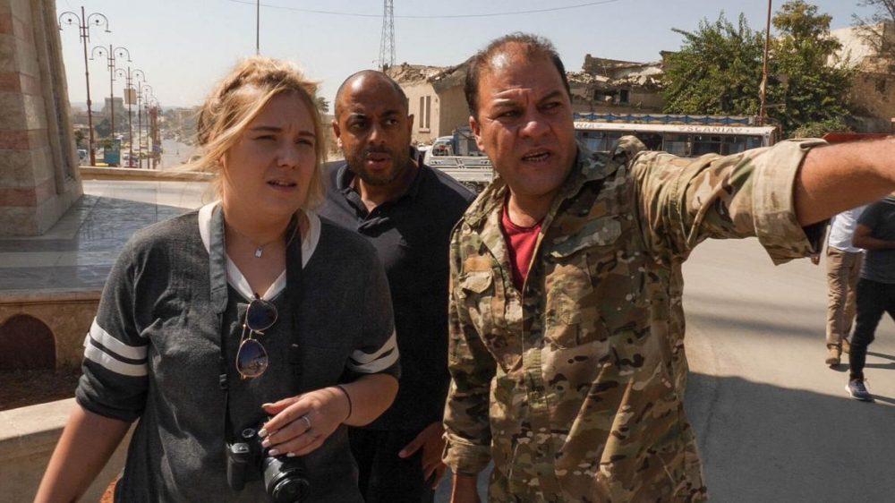 بیتانی هینس در سفر به سوریه