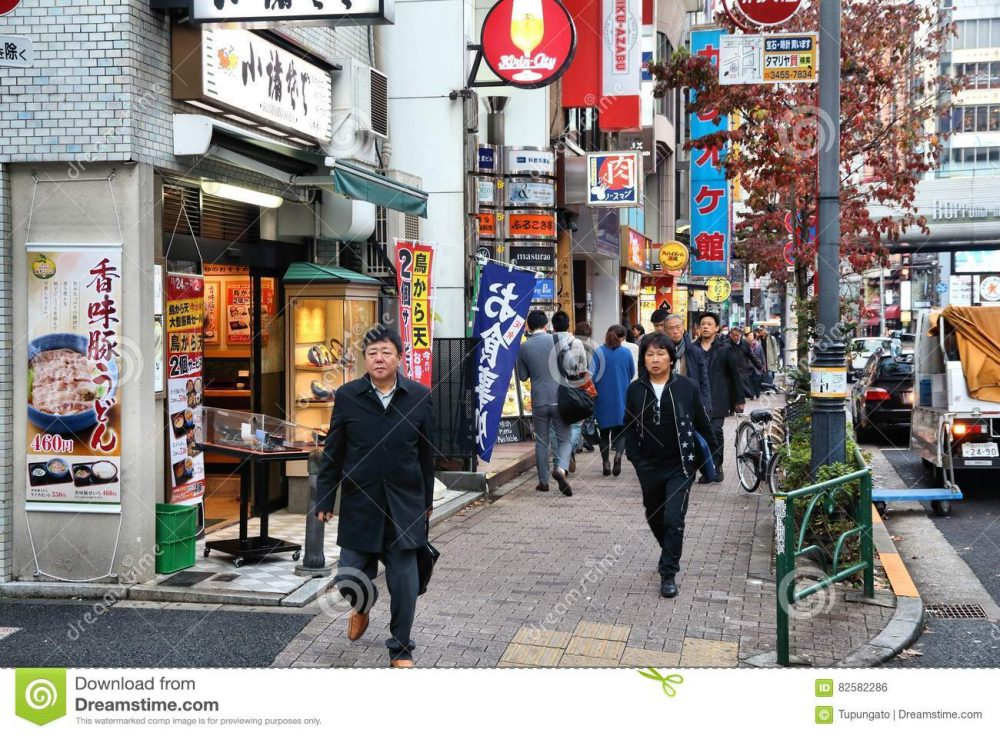 Roppongi Tokyo Japan December People Walk District Japan Capital City Japan Million People Live Its 82582286