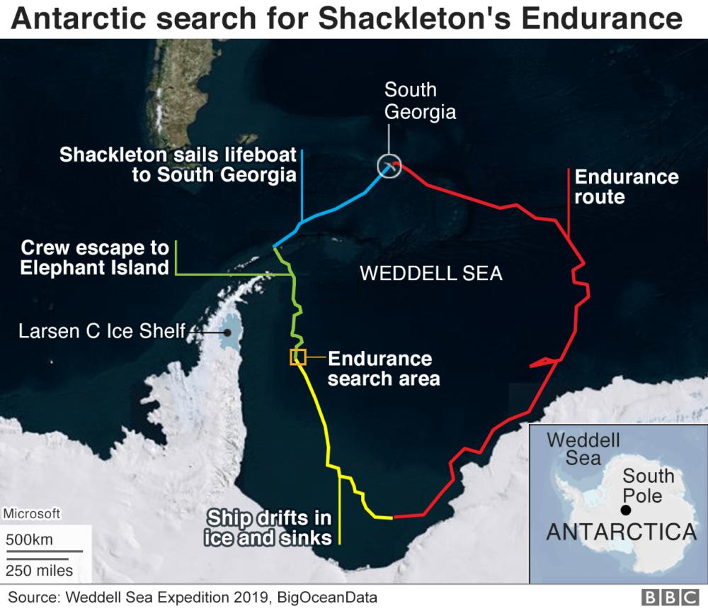 نقسه جستجوی کشتی شکلتون اپیزود جنوبگان پادکست چنل بی